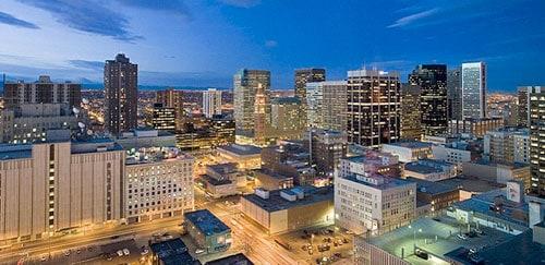 Hyatt provides nice views of Denver.