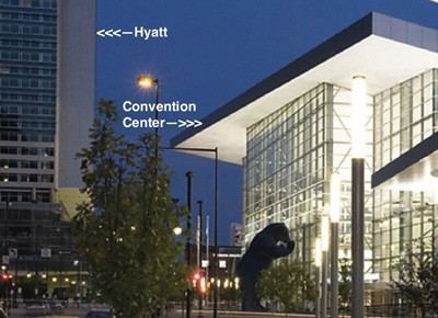 Cheaper Hyatt hotel rooms close to the convention center.