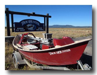 The TroutHunter Fly shop and Lodge is located in Last Chance, Idaho.