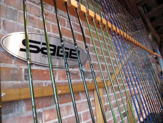 Charlie's Flybox carries rods and reels from brand names.