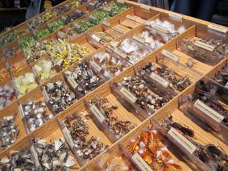 Charlie's Flybox has a selection of over 2,400 fly bins filled with more than 100,000 ties.
