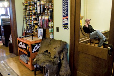 Northwoods Angler isn't a regular fly shop, they also have antiques for show.