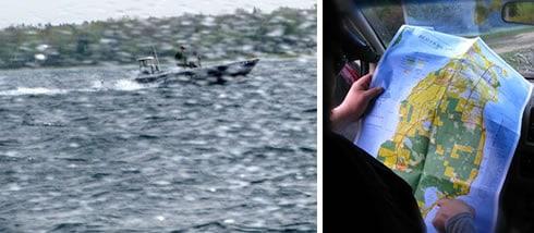 Boat Spray, Looking at Map