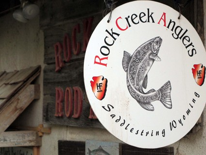 Rock Creek Anglers' logo was designed by the founder's wife.
