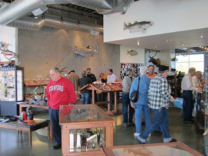 New costumers are always being pulled in, the fly shop becomes the hub for striper fishing.