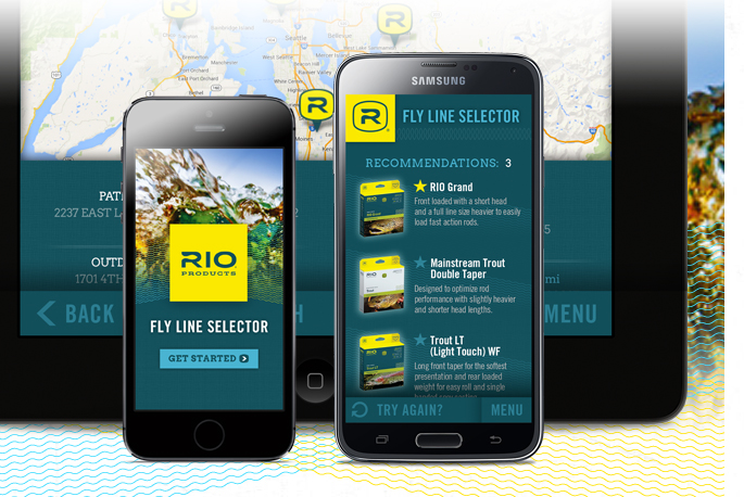 RIO's new Fly Line Selector app.