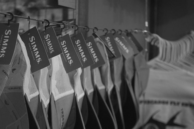 Tres Pescados Fly Shop carries Simms gear, as well as other big brands.