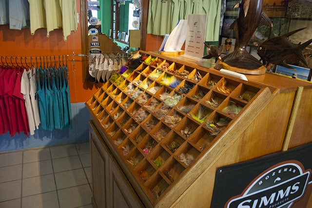 Tres Pescados Fly Shop has a all the needed flies and gear.