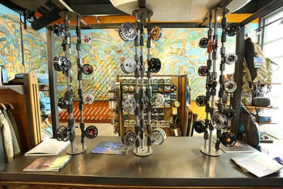 Emerald Water Anglers flyshop's displays are hand built by Blackmouth Design.
