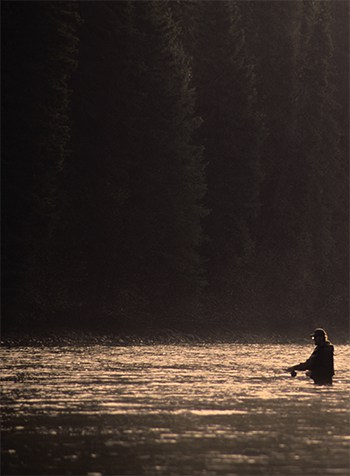 It's the sweet spot—the place where the steelhead like to hold