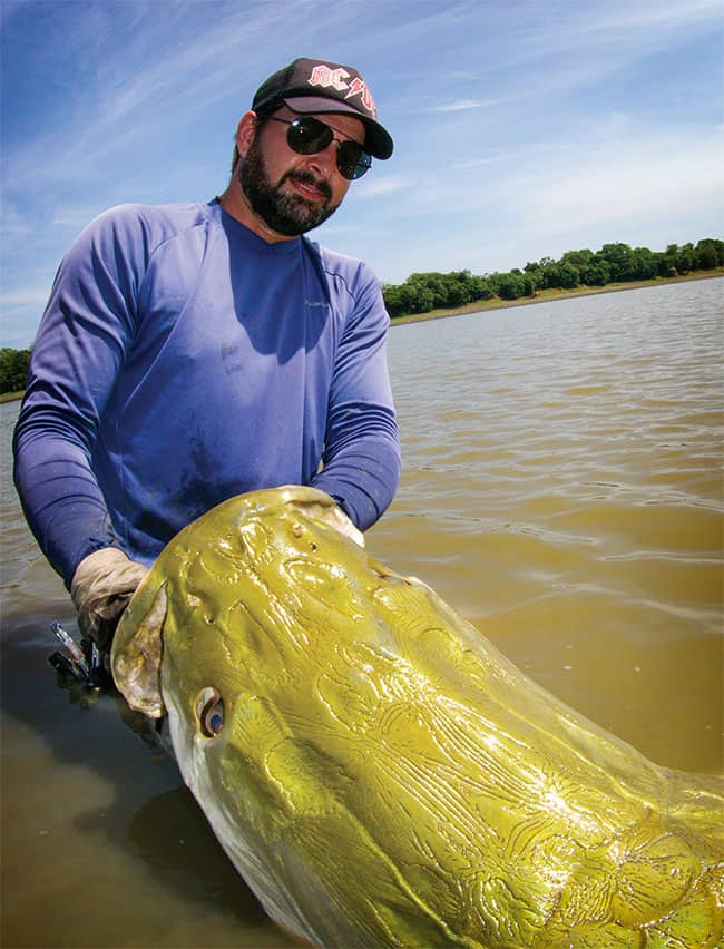 12-weight rods, 12-foot crocs, and a 320-pound(ish) fish