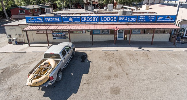 Crosby Lodge is the closest motel-store-bar to Pyramid Lake.