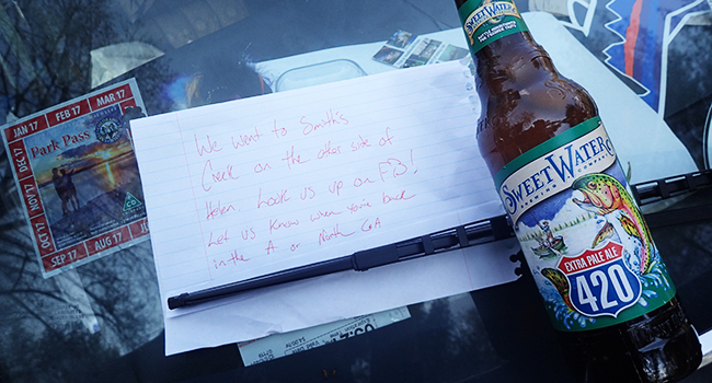 Letter Left with Beer for Clyde.
