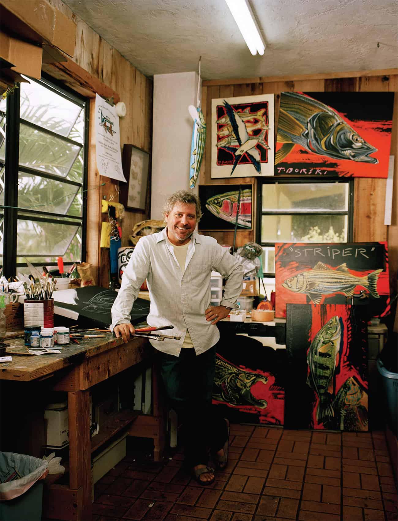 Borski in his studio