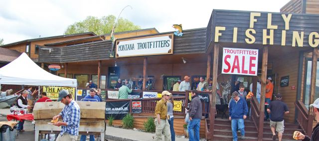 Montana Troutfitters hold an annual Troutfitters Barbecue.