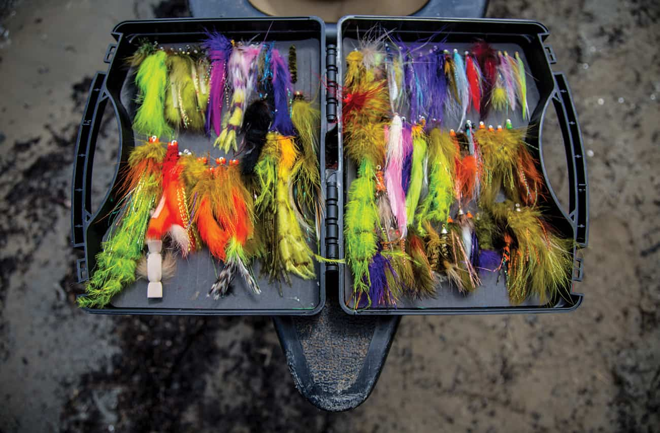 Smallmouth flies are colorful, furry, and built to entice.