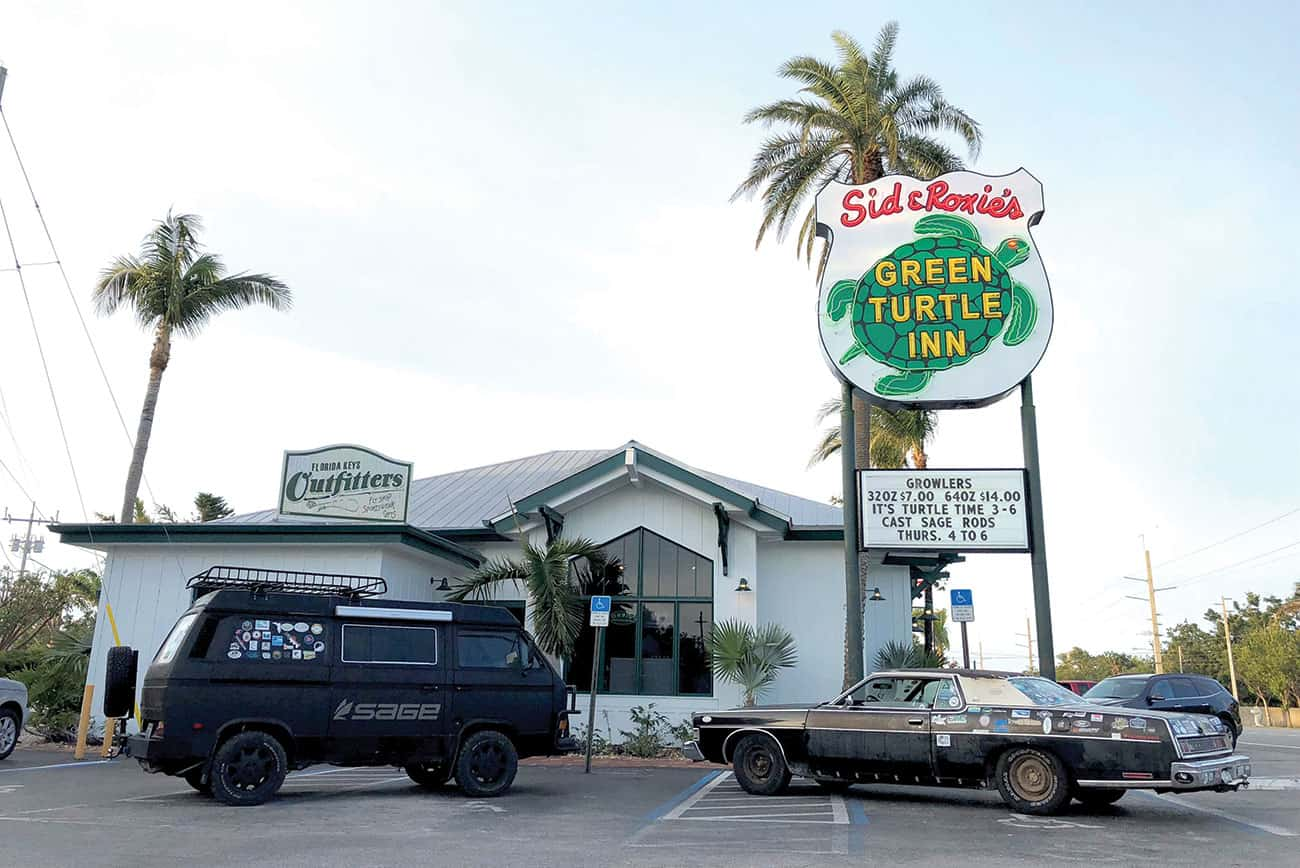 Clyde visits Sandy Moret's Florida Keys Outfitters.
