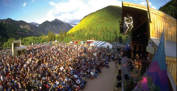 Festivarians gather for the Telluride Bluegrass Festival