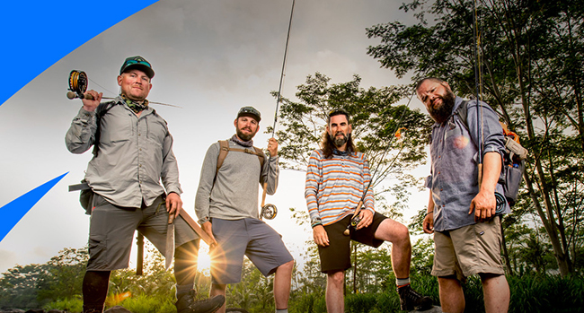 Jungle-proof—Chris Owens, Brian Jill, Thad Robinson and Jay Johnson.