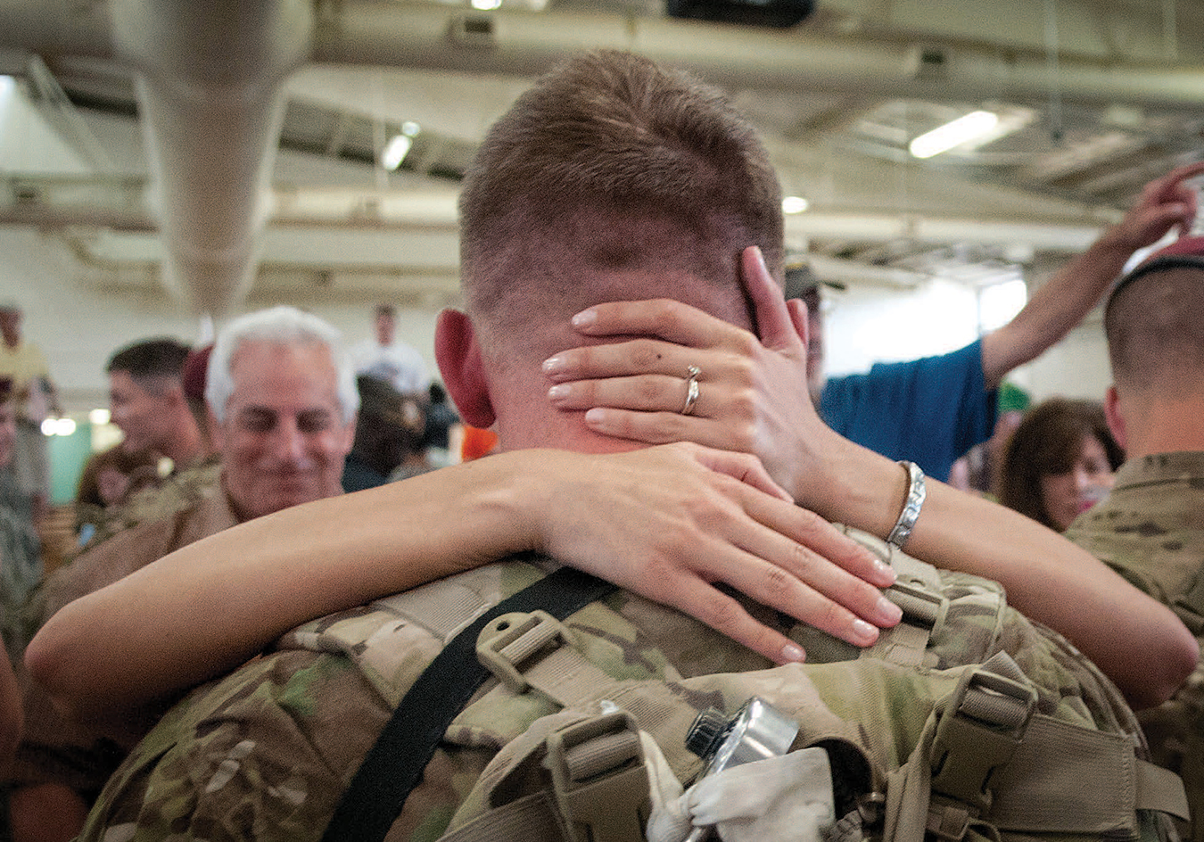 A SOLDIER RETURNS HOME TO HIS WIFE FOLLOWING A VIOLENT COMBAT TOUR IN AFGHANISTAN.