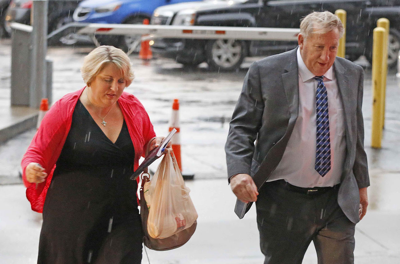 Jerry Shults and Amy Herrig at the Dallas Federal Courthouse